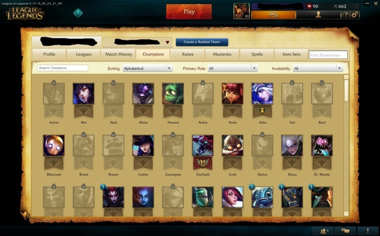 Champion Screen